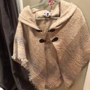 Tan shawl wrap super cute
